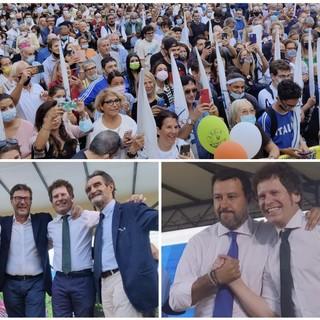FOTO e VIDEO. Bagno di folla per Salvini a Varese: «Bianchi è il cambiamento. Se vinciamo al secondo turno mi incazzo»