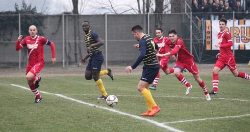 Sow con la maglia dell'Arconatese contro il Varese in serie D nel 2018