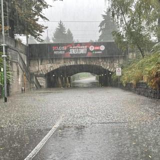 La foto del sottopasso postata su Facebook dal sindaco