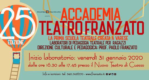 Al Teatro di Cuasso la 25esima dizione dell'Accademia Teatro Franzato