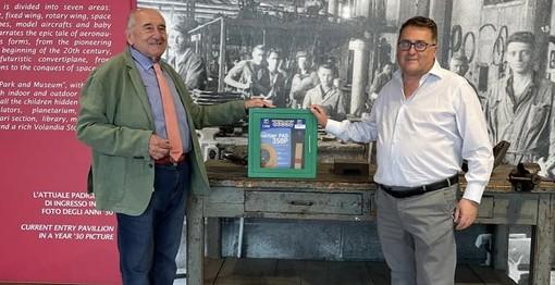 Un defibrillatore per Volandia: grazie al cuore di uno sponsor
