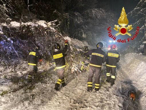 Neve, oltre 300 gli interventi di soccorso dei vigili del fuoco in 24 ore
