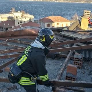 I danni provocati dal vento lo scorso 11 febbraio sul lago Maggiore
