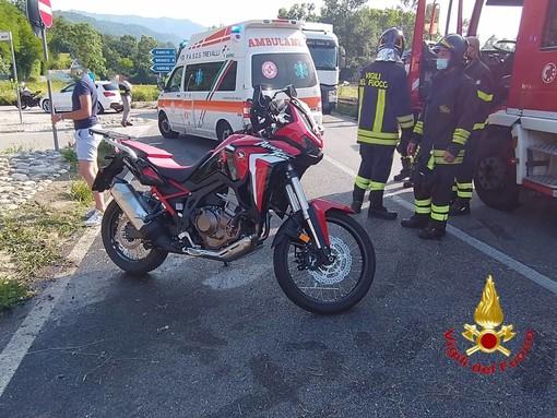 Scontro auto moto sulla proviciale di Rancio Valcuvia, due persone ferite in modo serio