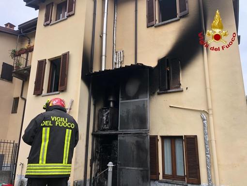 Castelveccana, a fuoco caldaia in vicolo Pescatori