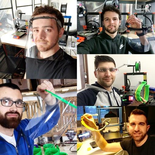 """Cinque ragazzi straordinari: dall'hobby per la stampa 3D nascono le visiere """"made in Casciago"""" che proteggono medici e forze dell'ordine"""